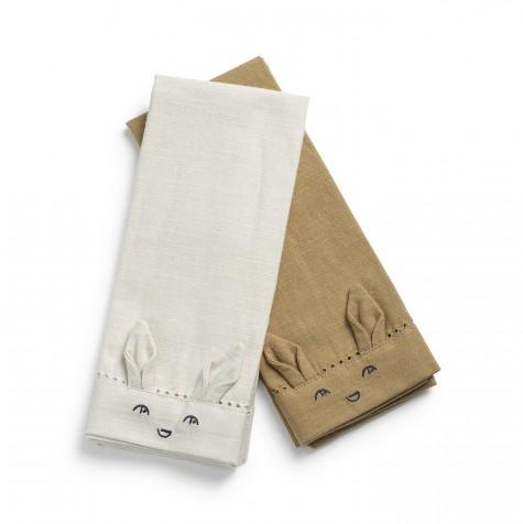 Серветки дитячі Elodie details 2 шт колір Lily White/ Warm Sand